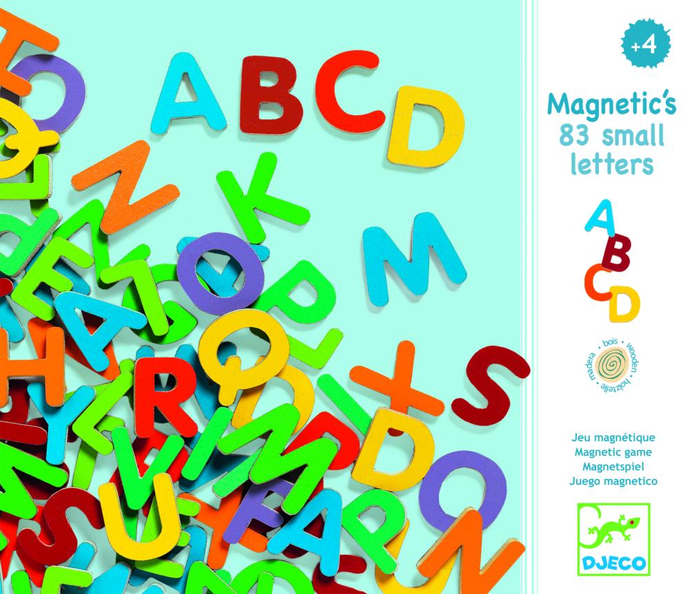 Drevené magnetky Veľké písmená 83 ks  efd0580f442